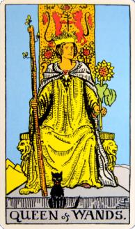 Queen of Wands front