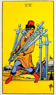 Seven of Swords front